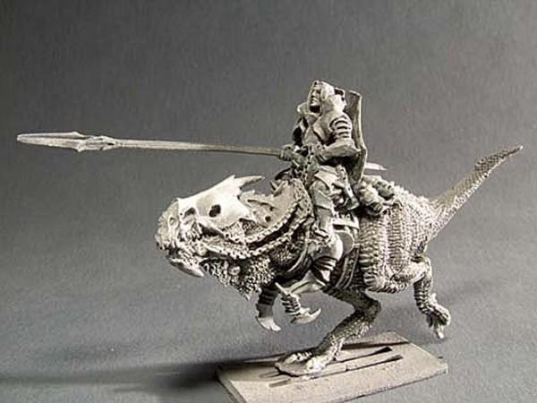 Dunkler Ritter auf Reitechse IV