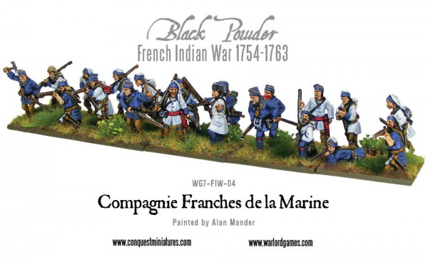 French Indian War: French Compagnie de la Marine