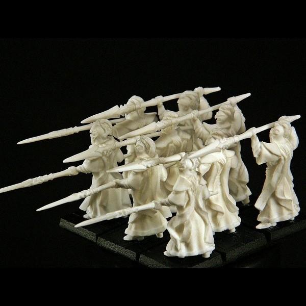 Elfen Veteranen Speerträger Abteilung