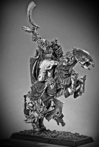 Held der Wächter der Gräber auf Pferd