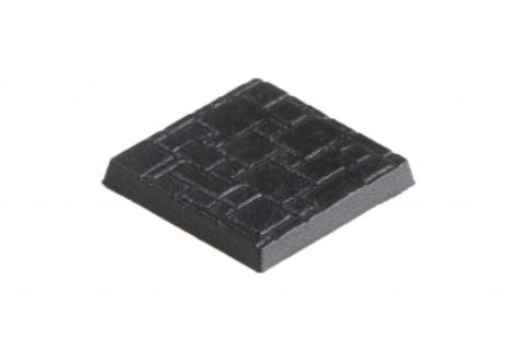 25mm x 25mm Bases texturiert (10)
