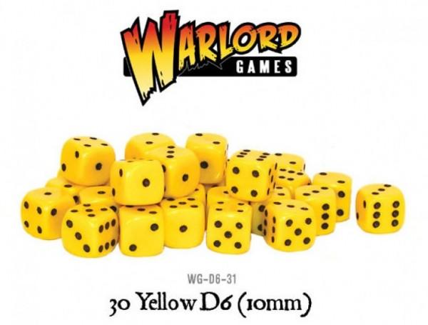 Warlord Games Würfel Gelb Schwarz (30)