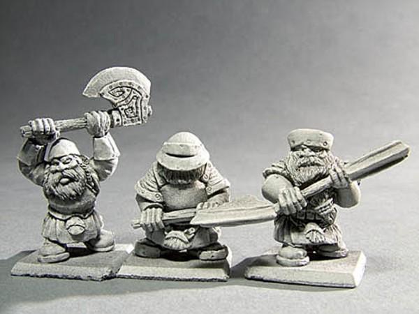 Krieger der Zwerge mit Zweihandwaffe III
